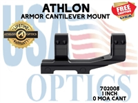 "ATHLON ARMOR 1"" CANTILEVER SCOPE MOUNT 0 MOA CANT"