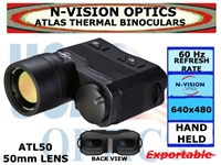 N-VISION OPTICS ATLAS THERMAL BINOCULARS 50mm LENS