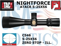 NIGHTFORCE ATACR 5-25x56 F1<BR> MIL-R WITH ZERO STOP - ILL.