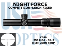 NIGHTFORCE COMPETITION SR FIXED 4.5x24 SR2