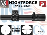 SPECIAL:  NIGHTFORCE NX8 1-8X24 COMPACT - FC-MOA (SPECIAL!)