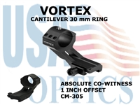 VORTEX CANTILEVER RING - 30 mm - 1 INCH OFFSET