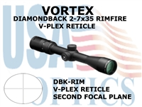 VORTEX DIAMONDBACK RIFLESCOPE 2-7x35 RIMFIRE V-PLEX RETICLE