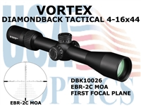 VORTEX DIAMONDBACK TACTICAL RIFLESCOPE 4-16x44 FFP EBR-2C RETICLE MOA