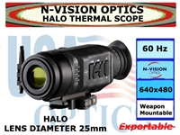 N-VISION OPTICS HALO THERMAL SCOPE 25mm LENS