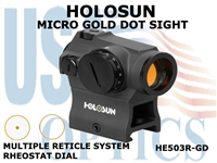 HOLOSUN GOLD DOT SIGHT - RHEOSTAT
