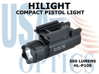 HILIGHT TACTICAL COMPACT PISTOL 500 LUMEN FLASHLIGHT