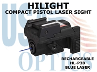 HILIGHT PISTOL BLUE LASER SIGHT - RECHARGEABLE