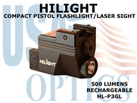 HILIGHT GREEN LASER/LIGHT COMBO - RECHARGEABLE