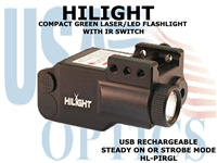 HILIGHT TACTICAL GREEN LASER and LED FLASHLIGHT WITH IR SWITCH