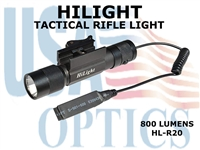 HILIGHT 800 LM TACTICAL RIFLE LIGHT WITH STROBE/PRESSURE PAD