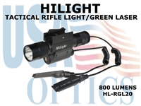 HILIGHT 800 LM TACTICAL RIFLE LIGHT/GREEN LASER