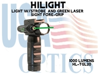 HILIGHT 800 LM LIGHT W/STROBE AND GREEN LASER SIGHT FORE-GRIP