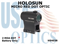 HOLOSUN MICRO DOT OPTIC - RED - BATTERY ONLY