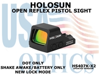 "HOLOSUN OPEN REFLEX PISTOL SIGHT (BATTERY/DOT ONLY) - RED <STRONG><FONT COLOR = ""RED"">NEW PRODUCT UPDATES ETA = LATE SEPTEMBER</FONT><BR></STRONG>"