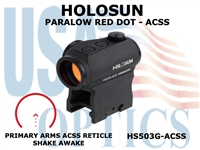 HOLOSUN PARALOW HS503G RED DOT SIGHT - ACSS CQB RETICLE