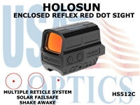 HOLOSUN ENCLOSED REFLEX RED DOT SIGHT