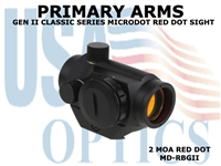 PRIMARY ARMS CLASSIC SERIES GEN II REMOVEABLE MICRODOT RED DOT SIGHT