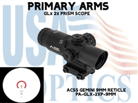 PRIMARY ARMS GLx 2X PRISM WITH ACSS GEMINI 9mm RETICLE