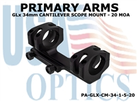 PRIMARY ARMS GLx 34mm CANTILEVER SCOPE MOUNT - 20 MOA