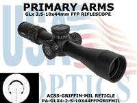 PRIMARY ARMS GLx 2.5-10x44 FFP ACSS-GRIFFIN-MIL ILLUMINATED