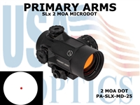 PRIMARY ARMS SLx ROTARY KNOB 25mm MICRODOT with 2 MOA RED DOT RETICLE