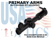 PRIMARY ARMS SLx 1-6x24mm SFP RIFLE SCOPE GEN III - ILLUMINATED ACSS-5.56 RETICLE