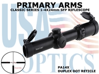 PRIMARY ARMS CLx4 1-4x24mm SFP RIFLE SCOPE - DUPLEX DOT RETICLE