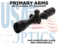 PRIMARY ARMS SLx3.5 4-14x44mm FFP RIFLE SCOPE - ILLUMINATED ARC-2-MOA