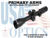 PRIMARY ARMS SLx3.5 4-14x44mm FFP RIFLE SCOPE - ILLUMINATED R-GRID 2B