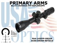 PRIMARY ARMS SLx3.5 4-14x44mm FFP RIFLE SCOPE - ACSS-ORION RETICLE