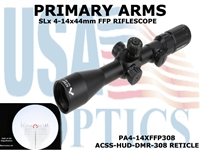 PRIMARY ARMS SLx3.5 4-14x44mm FFP RIFLE SCOPE - ILLUMINATED ACSS-HUD-DMR-308 RETICLE