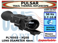 "PULSAR TRAIL XQ50 THERMAL RIFLESCOPE 2.7-10.8x42 <font color = ""red""> LIMITED AVAILABILITY</FONT>"