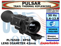 "PULSAR TRAIL XP50 THERMAL RIFLESCOPE 1.6-12.8x42 <font color = ""red""> LIMITED AVAILABILITY</FONT>"
