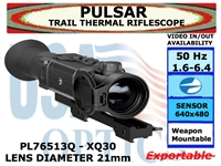 "PULSAR TRAIL XQ30 THERMAL RIFLESCOPE 1.6-6.4x21 <font color = ""red""> LIMITED AVAILABILITY</FONT>"
