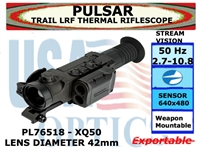 PULSAR TRAIL LRF XQ50 2.7-10.8x42 THERMAL RIFLESCOPE