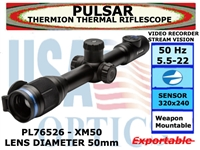 PULSAR THERMION XM50 5.5-22x50 THERMAL RIFLESCOPE