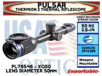 PULSAR THERMION 2 XQ50 3.5-14x50 THERMAL IMAGING RIFLESCOPE