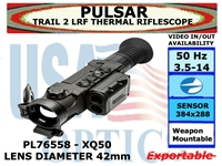 PULSAR TRAIL 2 LRF 3.5-14x42 - XQ50 THERMAL RIFLESCOPE