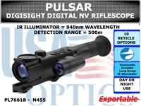 PULSAR DIGISIGHT ULTRA N455 DIGITAL NIGHTVISION RIFLESCOPE