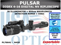 PULSAR DIGEX DIGITAL NIGHTVISION RIFLESCOPE - N450