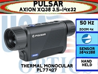 "PULSAR AXION XQ38 3.5-14x32 THERMAL MONOCULAR <STRONG><FONT COLOR = ""RED"">ETA: LATE FALL TO EARLY WINTER</FONT></STRONG>"