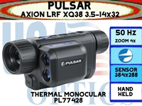 "PULSAR AXION LRF XQ38 3.5-14x32 THERMAL MONOCULAR <STRONG><FONT COLOR = ""RED"">ETA: LATE FALL TO EARLY WINTER</FONT></STRONG>"