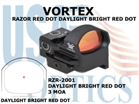 VORTEX RAZOR RED DOT DAYLIGHT BRIGHT RED DOT 3 MOA