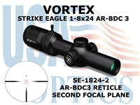 "VORTEX STRIKE EAGLE 1-8x24 AR-BDC3 <FONT COLOR = ""RED"">NEW!!</FONT>"