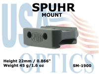 SPUHR MOUNT FOR AIMPOINT T1, T2 & H1