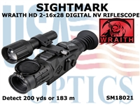 SIGHTMARK WRAITH HD 2-16x28 DIGITAL NV RIFLESCOPE