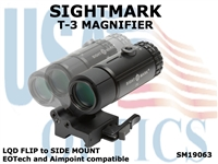 SIGHTMARK T-3 MAGNIFIER with LQD FLIP to SIDE MOUNT