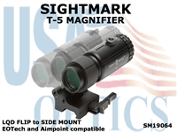 SIGHTMARK T-5 MAGNIFIER with LQD FLIP to SIDE MOUNT