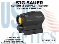 SIG SAUER ROMEO5 X COMPACT RED DOT 1x20mm 2MOA M1913 RAIL